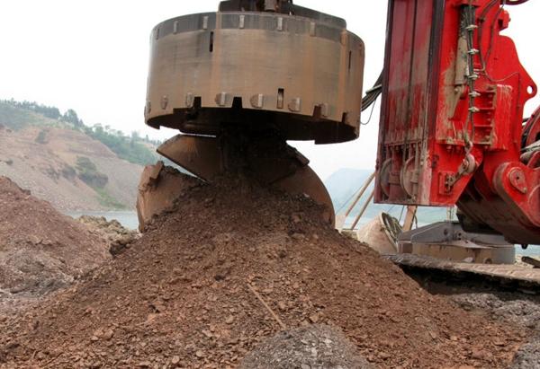 旋挖钻具-捞砂斗钻进泥岩层(贵州)